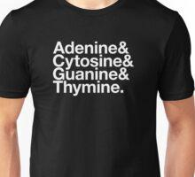 Adenine & Cytosine & Guanine & Thymine. - white design Unisex T-Shirt