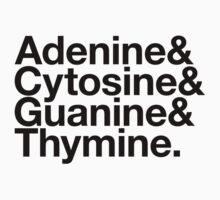 Adenine & Cytosine & Guanine & Thymine. - black design by M Dean Jones
