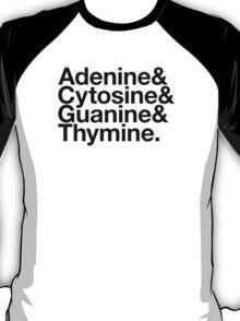 Adenine & Cytosine & Guanine & Thymine. - black design T-Shirt