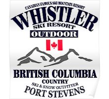 Whistler Ski Resort - British Columbia - Canada Poster
