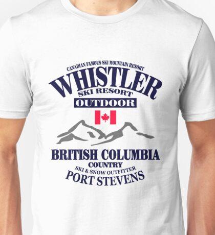 Whistler Ski Resort - British Columbia - Canada Unisex T-Shirt