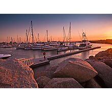 Scarborough Marina Sunset Brisbane Australia Photographic Print