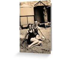 At THe Beach 1929 Greeting Card