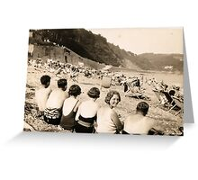 Over The Shoulder Beach Crew 1929 Greeting Card