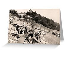 The Whole Gang At The Seaside 1929 Greeting Card