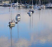 Sailboats I by JohnBiondo