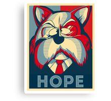 Hope King Furry Canvas Print