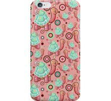 Flower Turtle Pattern iPhone Case/Skin