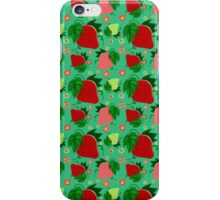 Red and Green Strawberries Pattern iPhone Case/Skin