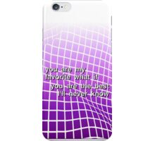 Fall out boy - Fourth of July lyrics  iPhone Case/Skin
