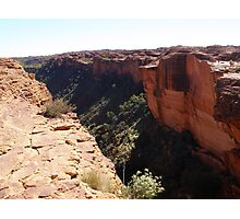 A magical experience looking along Kings Canyon N.T. Photographic Print