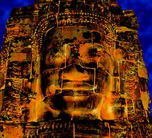 Smiling faces of Bayon, Cambodia  by Michael Treloar