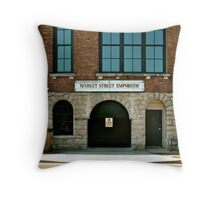 Market Street Emporium Throw Pillow