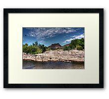 Red Mountain Framed Print