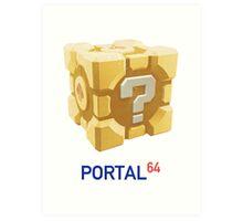 Portal 64 Companion Question Cube Art Print