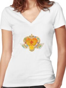 Sailor Moon's Eternal Compact Women's Fitted V-Neck T-Shirt