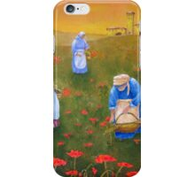 Harvesting Poppies in Tuscany iPhone Case/Skin