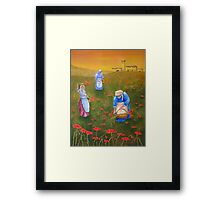 Harvesting Poppies in Tuscany Framed Print