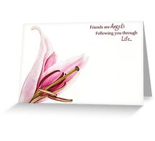 Friends are Angels Greeting Card