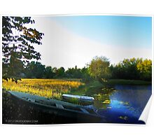 Boats at the Pond Poster