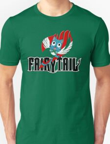 Black Fairy Tail and Red Happy Logo T-Shirt