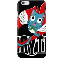 Black Fairy Tail and Red Happy Logo iPhone Case/Skin