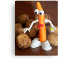 Mr Carrot wants to fit in Metal Print