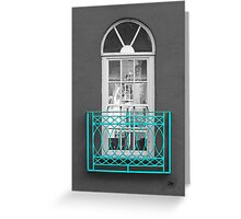 Turquoise Balcony Selective Greeting Card