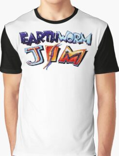 Earthworm Jim (SNES) Title Screen Graphic T-Shirt