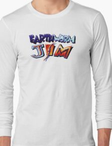 Earthworm Jim (SNES) Title Screen Long Sleeve T-Shirt