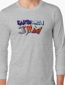 Earthworm Jim (SNES) Title Screen Long Sleeve T-Shirt