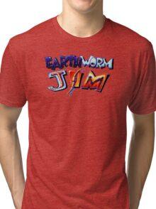 Earthworm Jim (SNES) Title Screen Tri-blend T-Shirt