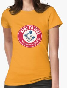 9 to 5 Arm and Hammer logo Womens Fitted T-Shirt