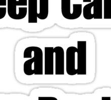 Keep Calm and Give Becker a Tank Sticker