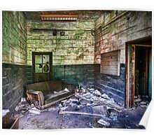Office at Abandoned Coal Breaker Poster