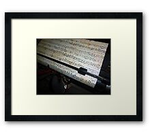 Old Music and Typewriter Framed Print