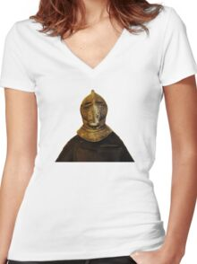 The Knight II Women's Fitted V-Neck T-Shirt