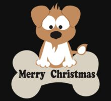 Christmas Dog In Black One Piece - Long Sleeve