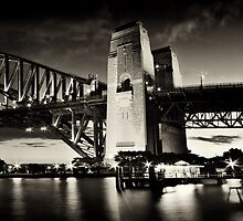 Night Falls on Sydney_Sepia by Sharon Kavanagh