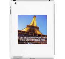 Inspirational Travel Quote iPad Case/Skin