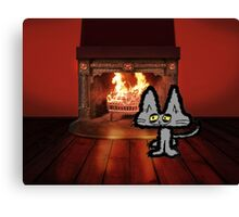 Big Kitty On A Cold Winter Day Canvas Print