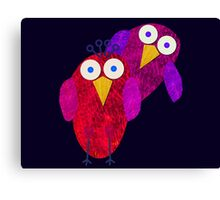 Owlette and her boyfirend Canvas Print