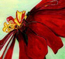A Red Flower in Sharona's Dreams Sticker