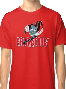 Red Fairy Tail and Black Happy Logo Classic T-Shirt
