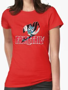 Red Fairy Tail and Black Happy Logo, Sticker T-Shirt