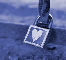 Heart-Shaped Lock, Budapest, Hungary by BH Neely