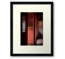 Door's to Shrine to Confucius - Hanoi - Vietnam Framed Print