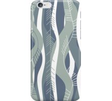 blue retro stripes iPhone Case/Skin