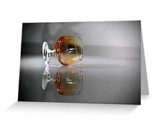 Brandy Glass Greeting Card