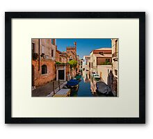 A Quiet Canal in Venice, Italy Framed Print